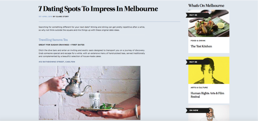 dating spots in melbourne